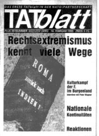 Das TATblatt vom 16.2.1995 nach dem rassistischen Anschlag auf Roma in Oberwart